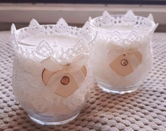 Lacey scented candles