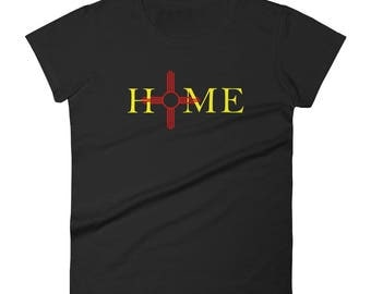 New Mexico is Home Zia Women's T-shirt/Zia Symbol