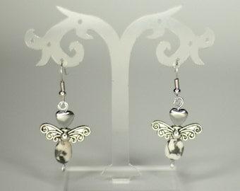 Marmor Engel Ohrringe, earrings, earrings, versandkostenfrei, free shipping, postage to send free