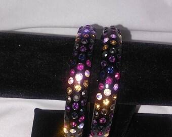 Multi Color Black Bling Bracelets