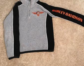 90s Harley Davidson Children Fleece - Medium