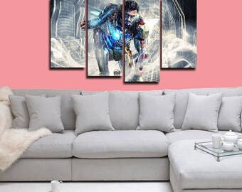 Iron Man Poster Iron Man Canvas Iron Man Print Wall Decor Wall Art Large Print Multi Panel Home Decoration Birthday gift Canvas art