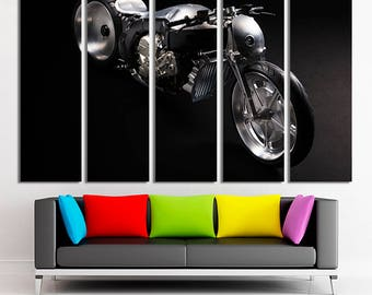 Motorcycle, Motorcycle art, BMW canvas, Motorcycle BMW, Motorcycle wall art, BMW wall art, bmw canvas art, bmw concept, Large canvas