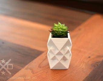 Planter desk gift, Pot Succulent Small, Air plant holder, Geometric planter, Succulent planter, 3D Printed planter, Mini planters,