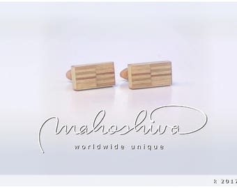 wooden cuff links wood alder maple handmade unique exclusive limited jewelry - mahoshiva k 2017-24