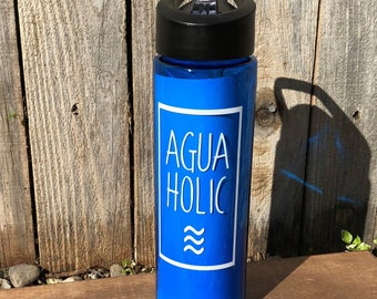Agua Holic Water Bottle | Workout | Exercise| 100% BPA Free | 24 oz.