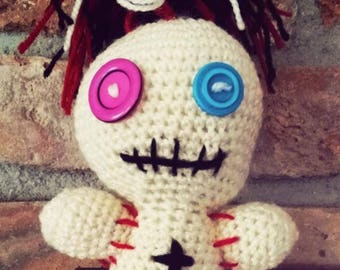 Voodoo Doll-20 cm-with or without rattle-baby gift talisman Lucky Charm