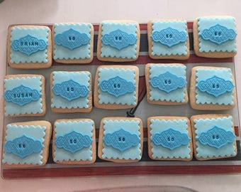 50th Birthday 12 Fondant Decorated Cookies 50 Years Old Party Favor
