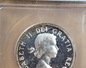 1857 Canada Silver 50 Cent ICG Certified PL 66