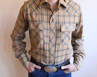 Vintage 1970's Chute #1 Pearl Snap Western Shirt
