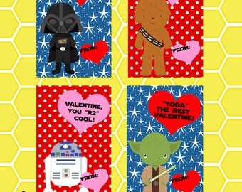 Star Wars Inspired Valentines- Instant Download