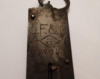 Vintage Spring Scale LF & C No 3 New York 25 LB