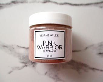 PINK WARRIOR - Clay Mask