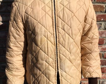 Hawthorne Quilted Tan Puffer Jacket