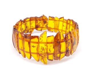Bracelet - ref800 - elastic - 19cm approx - set of Baltic amber