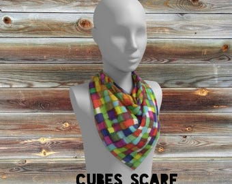 cubes scarf