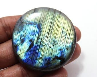 205.20cts Natural Multi flash Labradorite Round 50x50x9 mm  Labradorite loose gemstone amazing & beautifull Labradorite nice flash AA-27