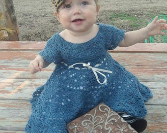 Baby girl crochet party dress