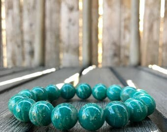 10mm Russian Amazonite Stretch Bracelet