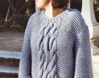 Chunky Blue Handmade Knit