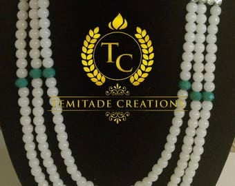 Multi Strand Necklace for weddings , casuals etc