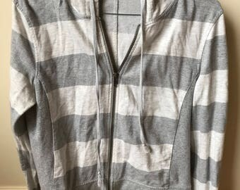 Early 2000s striped zipped hoodie