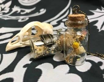 Mini potion bottle necklace