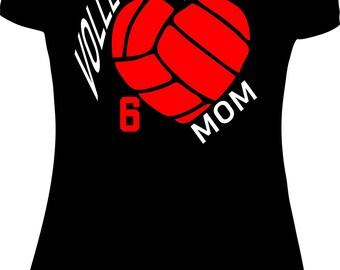 Volleyball Mom Shirt Custom Volleyball Mom Volleyball mom Shirt t shirt tshirt sports mom sport mom women shirt