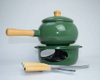 Green Enamel Fondue Set from boots