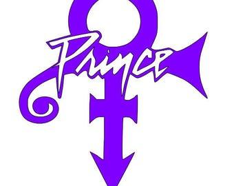 prince symbol decal etsy