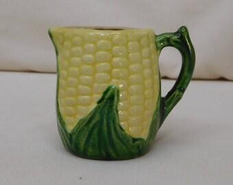 Miniature Vintage Ceramic Ear of Corn Pitcher
