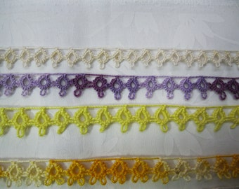 One Yard of Vintage Cotton Tatted Lace (3)