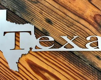 Texas Metal Sign