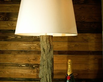 Drifwood lamp with dimmer switch