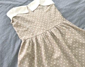 S A L E • Polka Dots Strapless Vintage Dress