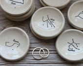 Zodiac Constellation Pottery Ring Dish - 1-2 Weeks for Delivery
