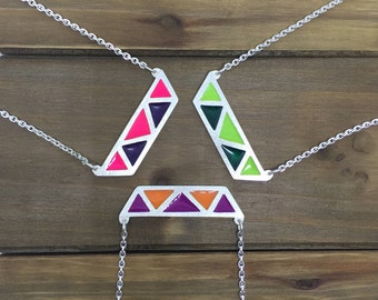 Triangles Color Necklace