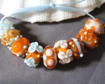 Elizabeth Creations SPICED  artisan lampwork handmade glass beads Sra