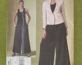Vogue 1186 ISSEY MIYAKE Wide Leg Pants and Fitted Jacket Sewing Pattern sz 14 16 18 10 UNCUT ff