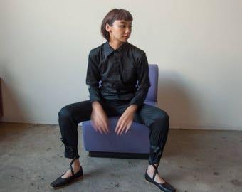 black cotton utilitarian jumpsuit / black jumpsuit / black onesie / s / 2292d / B3