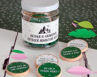 Grandma's Outdoor Adventures Ideas Personalised Jar - Grandmother's Day Gift - Personalised Mother's Day - Adventure Jar