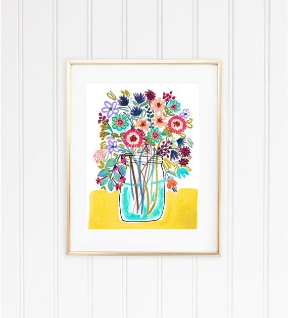 Printable Wall Decor Beautiful Floral Watercolor Print *DIGITAL DOWNLOAD* Instant