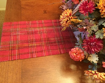 Autumn Table Runner, Hand Woven, Thanksgiving Runner, Fall Table, Wedding Gift, dresser scarf, handwoven, dinner table, table runners