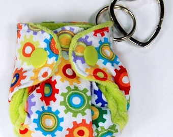Cloth Diaper Keychain - Ornament - CD Advocacy - Key Ring - Diaper Bag Accessory - Sprockets