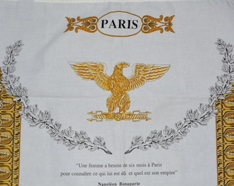 PARIS Beauville tea towel Arc de Triomphe cotton souvenior textile