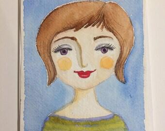 Original Watercolour : Miriam