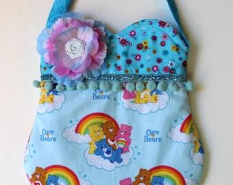 Care Bear Purse, girls purse, toddler purse, spring purse, girlie purse