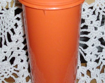 Vintage Tall Orange Tupperware Pour'n'Seal Pitcher Juice Container