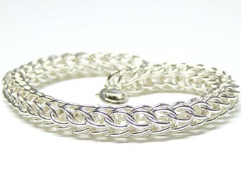 sterling silver chain mail persian bracelet,sterling silver chain mail bracelet,silver persian chain mail bracelet,silver chain mail