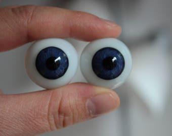 24mm Glass Eyes - Blue
